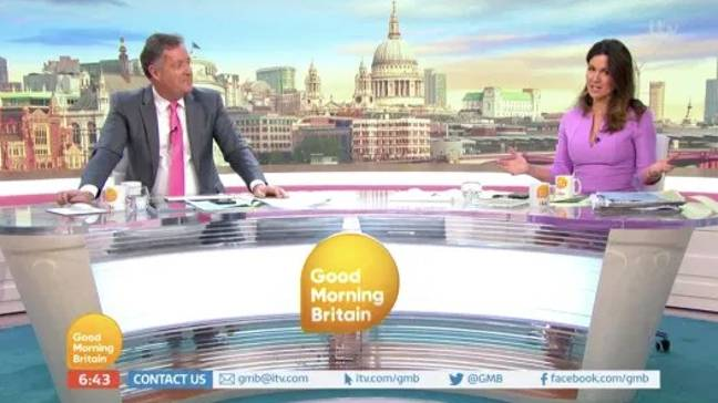 Piers looked a little orange today (Credit: ITV)