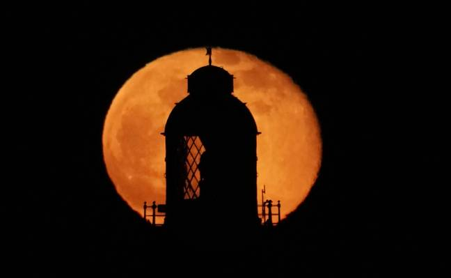 The super Worm Moon pictured last March in Northumberland (Credit: PA)