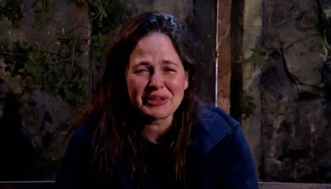 Giovanna had a tearful ride in the jungle (Credit: ITV)
