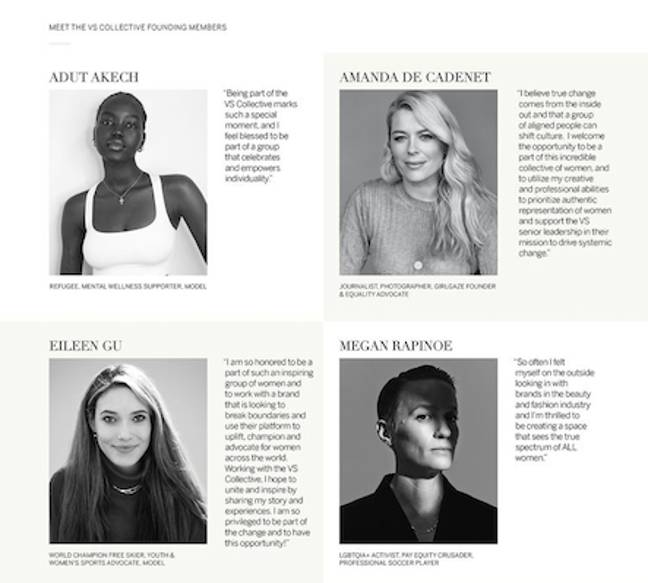 VS unveiled its collective full of tonnes of incredible women (Credit: Victoria's Secret)