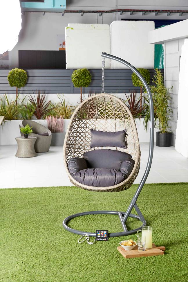 Aldi's sell out hanging egg chair has made a return for 2021 (Credit: Aldi)