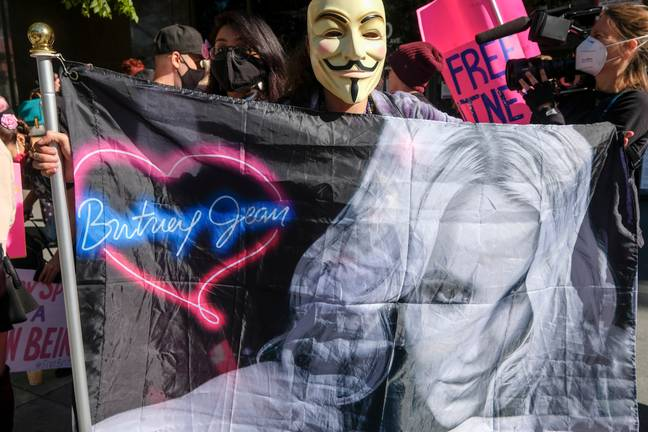 Britney's fans started the #FreeBritney movement due to the conservatorship (Credit: PA)