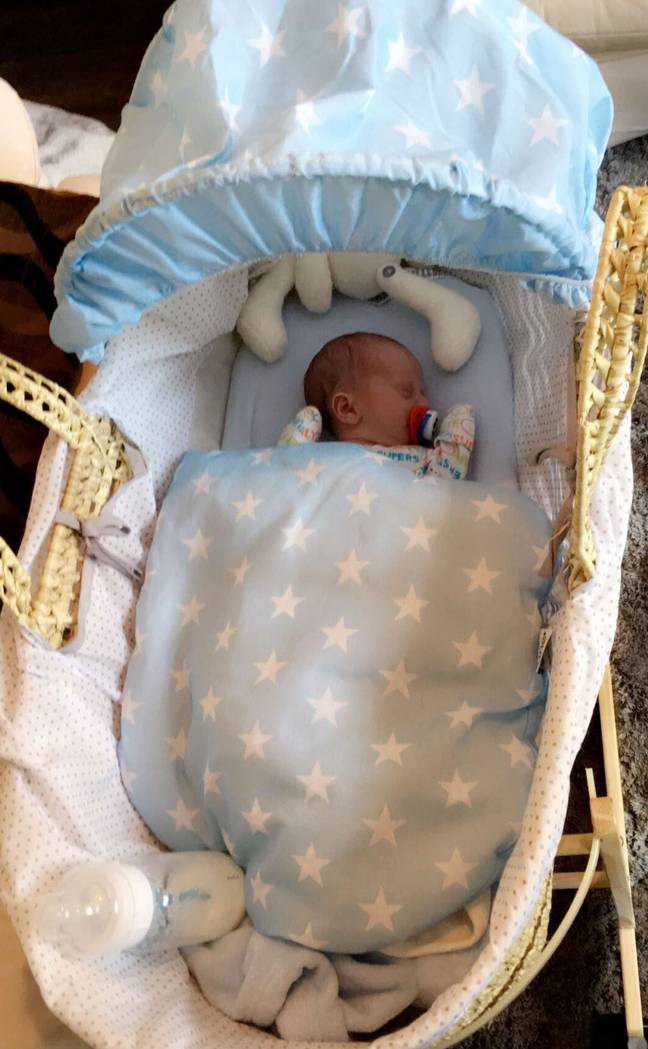 Leo Tallett was 4lbs 4oz when he arrived (Credit: Kennedy News)