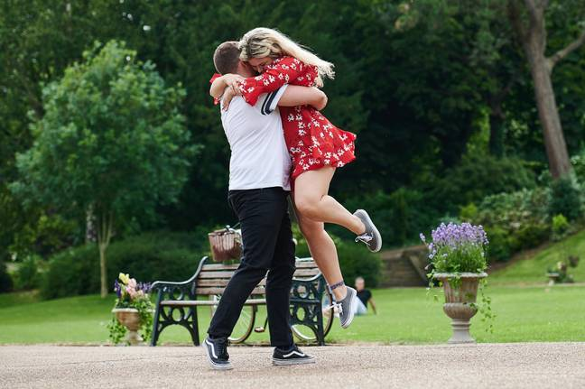 The couples just dance and don't speak on their first date (Credit: Channel 4)