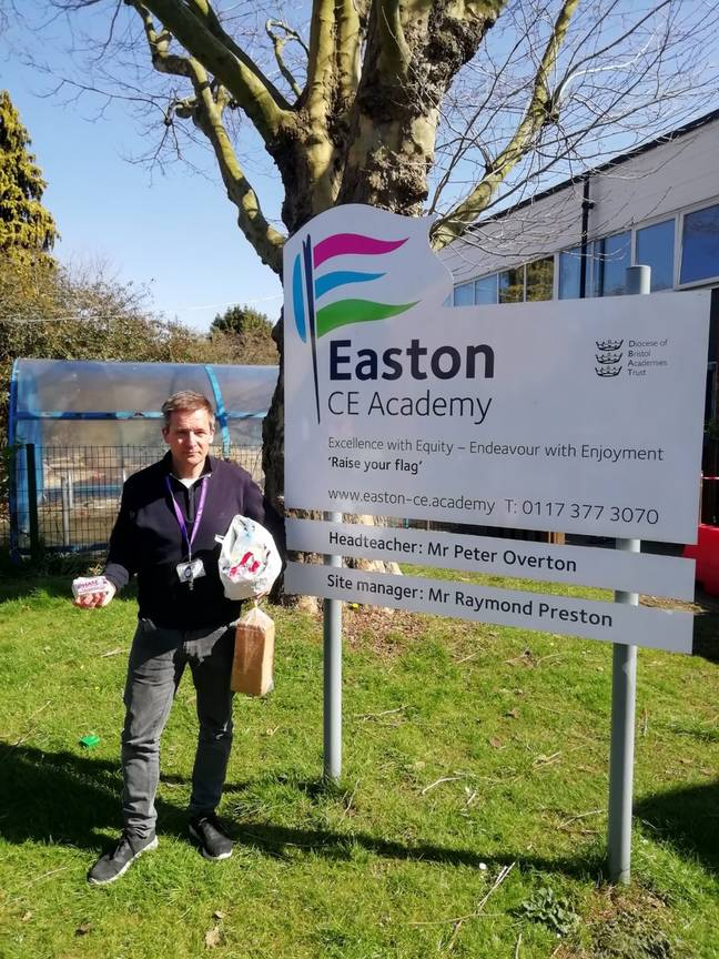 Peter Overton, head teacher of Easton CE Academy in St Jude's, Bristol, isn't satisfied with the free school meals (Credit: Kennedy News)