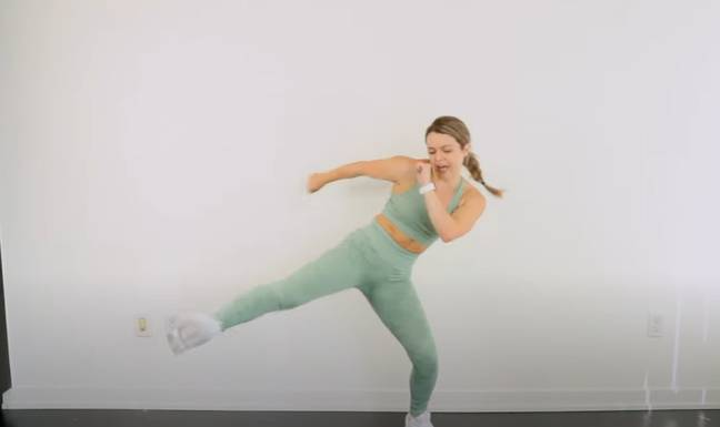 Emily is known for her fun workout classes (Credit: emkfit/YouTube)