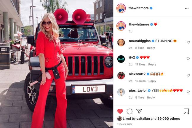 Laura Whitmore teases Love Island trailers (Credit: Instagram/thewhitmore)