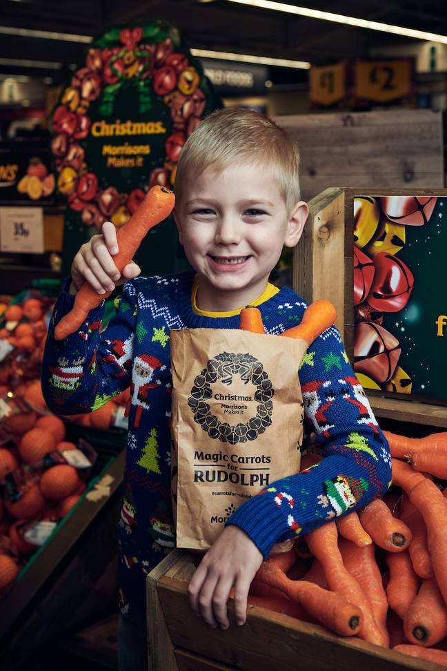 The chance to collect Rudolph's carrots will no doubt encourage your kids to head to the supermarket with you (Credit: Morrisons)