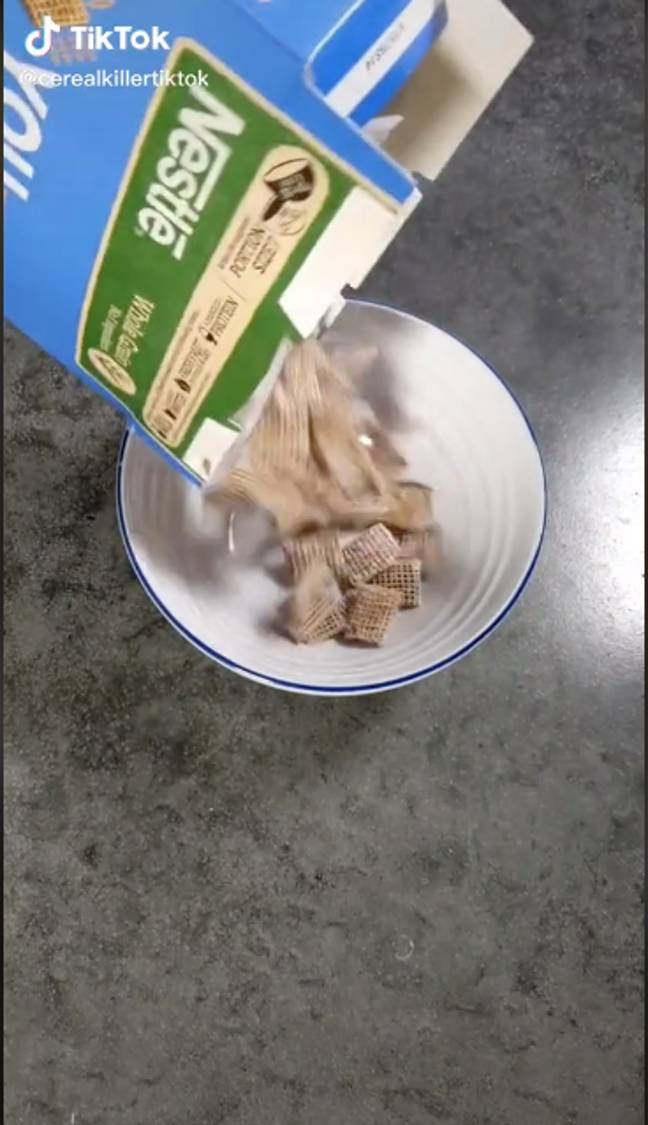 The Cereal Killers decide to jazz up some Frosted Shreddies (Credit: TikTok - cerealkillertiktok)