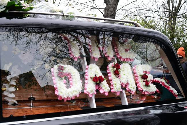 Dame Barbara's funeral cortege arrives at Golders Green Crematorium (Credit: PA)