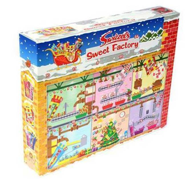 The advent calendar features fan favourite sweets such as Love Hearts and Drumstick Squashies (Credit: Swizzels)