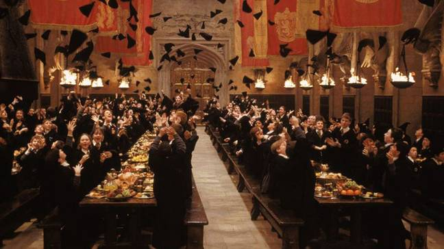 The child has been told she 's going to Hogwarts, the wizarding school from the film (Credit: Warner Bros)