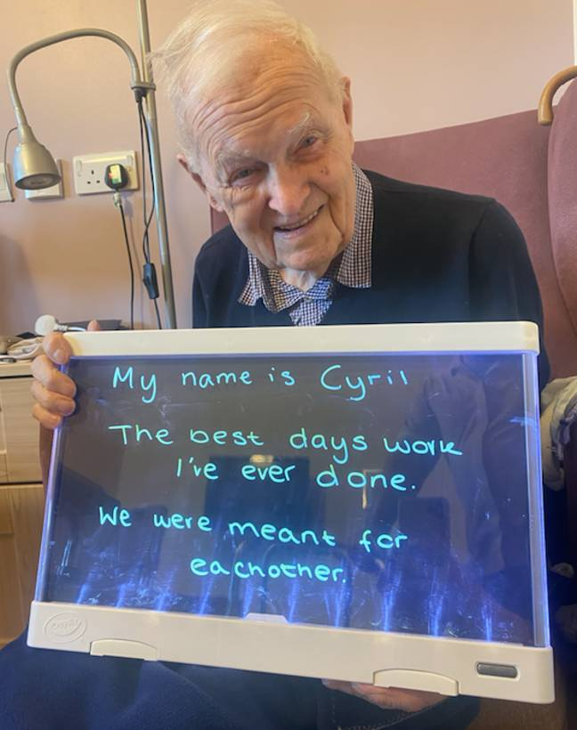 Cyril's advice has maintained his happy marriage (Credit: Colne View care home)