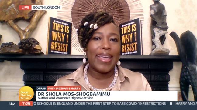 The woman's rights activist called out Piers Morgan for his strong opinions towards Meghan (Credit: ITV)