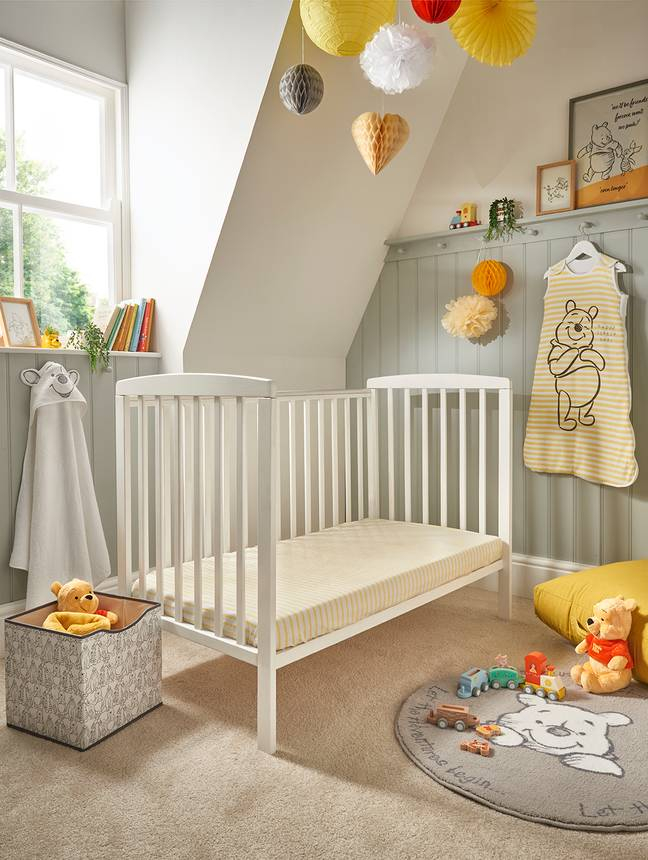 From bed-spreads and rugs, to storage boxes and bath towels, the new nursery range features iconic Disney characters (Credit: Asda/Disney)