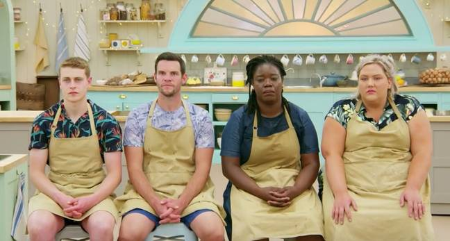 It was a tense semi final of Bake Off (Credit: Channel 4)