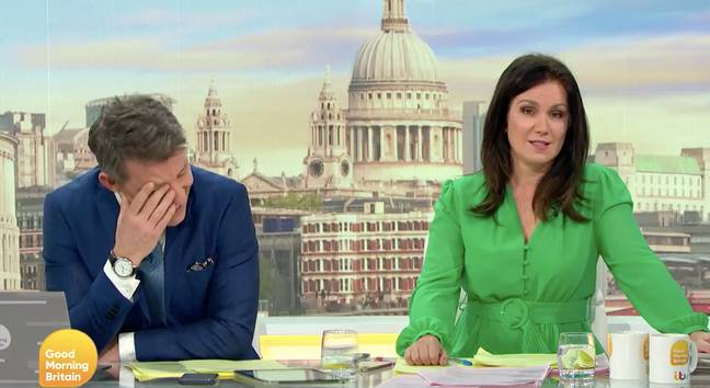 Ben was mortified at the blunder (Credit: ITV)