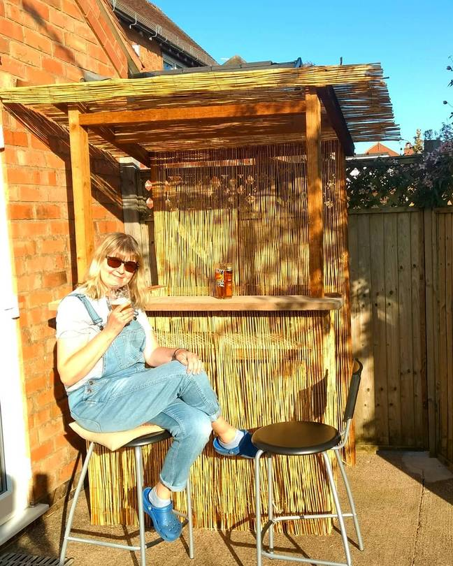 Brummie Jacqui Thomson's Tiki Bar is built from recycled timber (Credit: Jacqui Thomson / @jacq_thomson)
