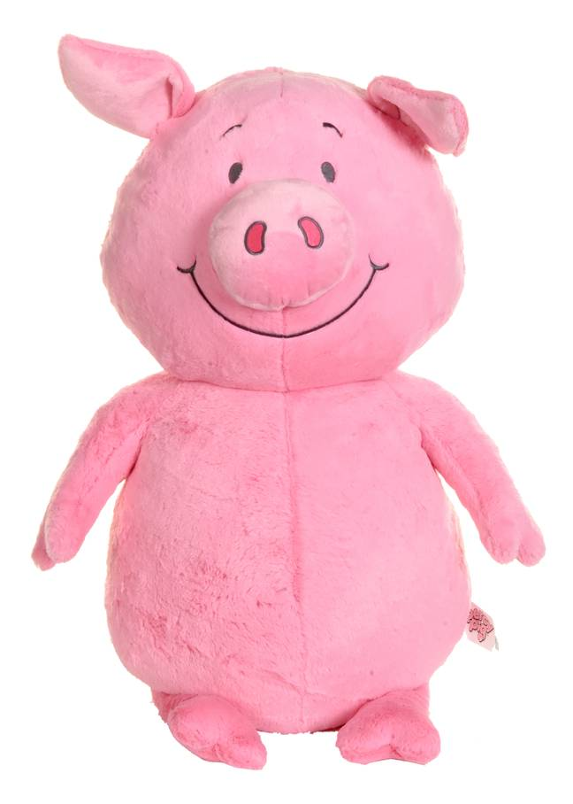 The larger limited-edition Giant Percy Pig Toy costs £25 (Credit: M&S)