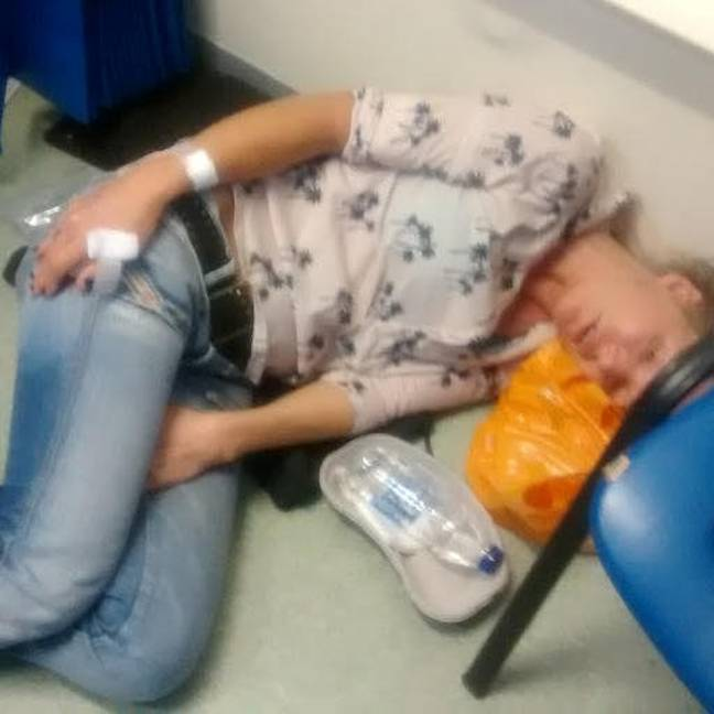 The 46-year-old was rushed to A&E at the Queen Elizabeth The Queen Mother Hospital at the time (Credit: SWNS)