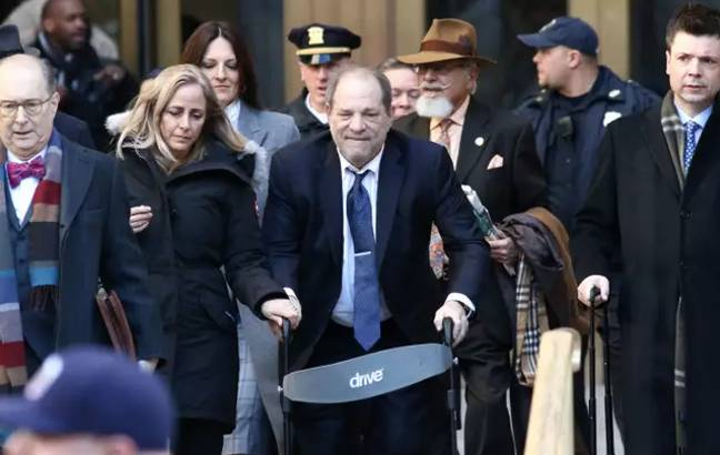 Weinstein was charged with two counts of rape (Credit: PA)