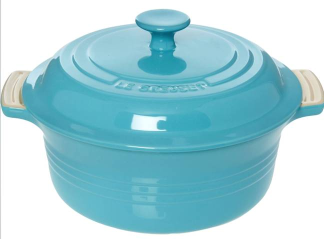 Le Creuset 22x22cm Blue Eau De Nil Casserole Dish £24.99 (Credit: TK Maxx)