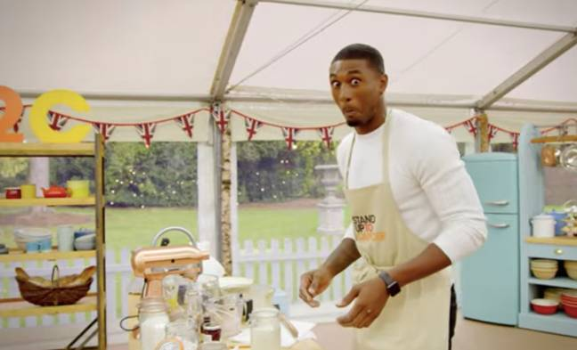 Ovie doesn't look that comfortable in the kitchen (Credit: Channel 4)