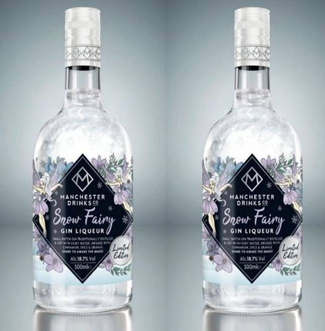The bargain retailer is selling a shimmering snow fairy gin liqueur for £8. (Credit: Home Bargains)