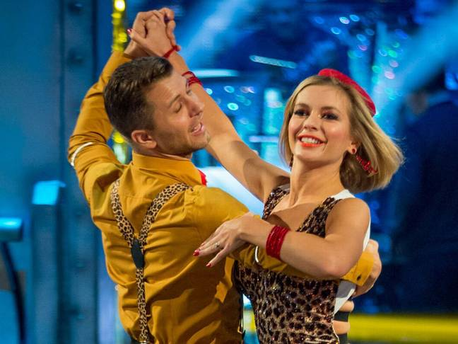 Rachel and Pasha began dating after they appeared on Strictly together (Credit: BBC)