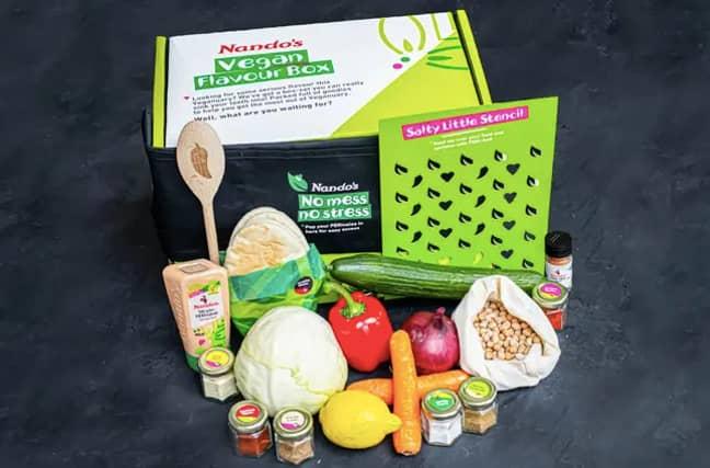 Nando's has also released a vegan chicken box (Credit: Nando's)