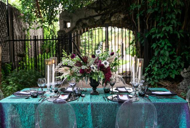 The table was straight out of Nightmare Before Christmas (Credit: Angela Vallejo Photography)