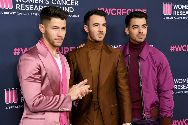 The Jonas Brothers at the The Women's Cancer Research Fund's An Unforgettable Evening 2020 (Credit: PA)