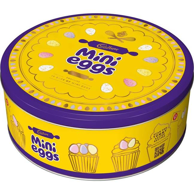 We can't wait to get an entire tin full of mini eggs. (Credit: Cadbury)