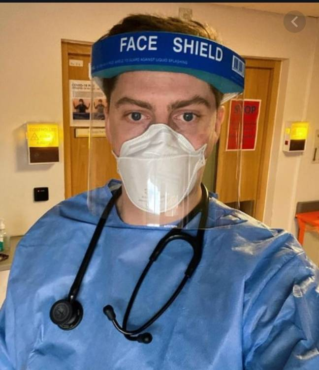 Dr Alex has documented his experiences working during the pandemic on his YouTube page (Credit: Dr Alex George/Youtube)