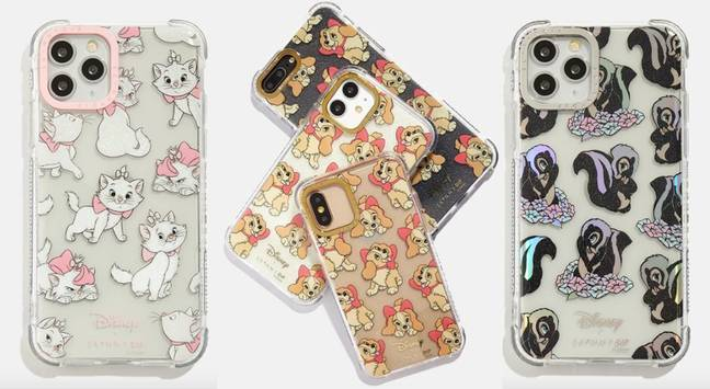 You can choose phone cases in Marie, Lady and Flower designs (Credit: Skinnydip)