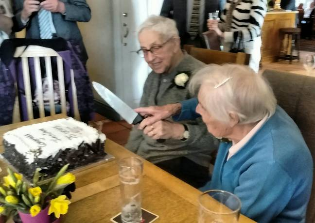 The service marked their diamond wedding anniversary. Credit: SWNS