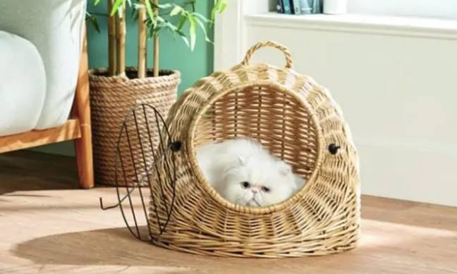 Alongside the egg chair, a cat igloo is also available (Credit: Aldi)