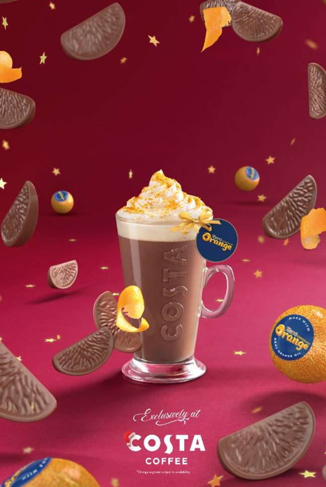 The coffee chain has launched its new festive menu (Credit: Costa)