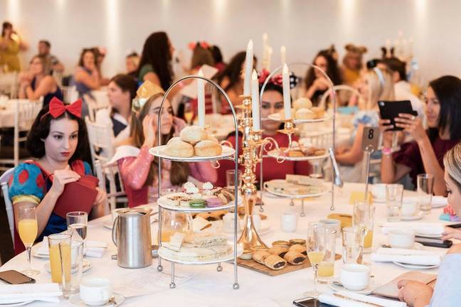 The high tea event encourages dressing up (Credit: Immersive Events)