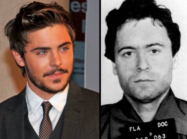 Zac Efron and Ted Bundy. See the resemblance? (Credit: PA)