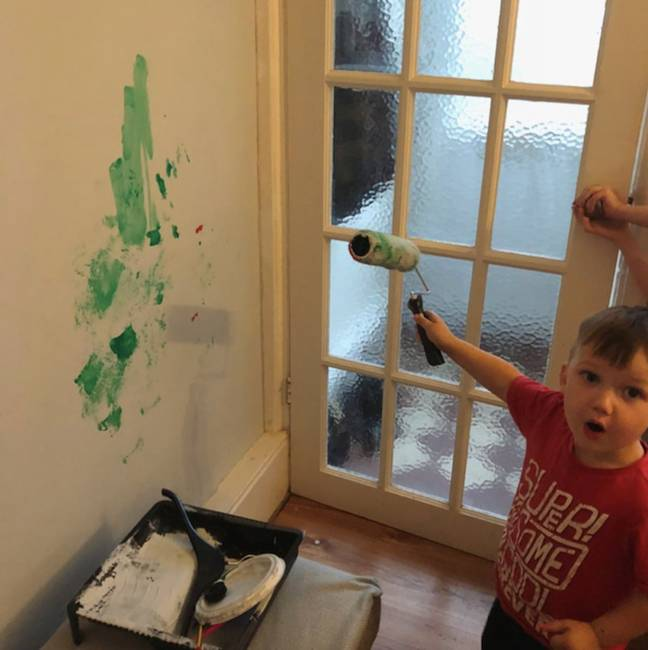 Steffi says Romeo's worst move was painting over their new walls with green paint (Credit: Caters)