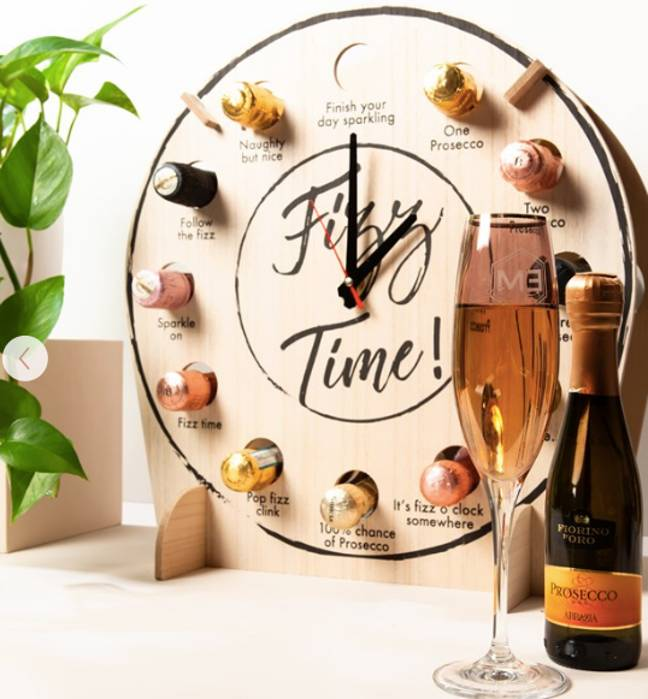 The Prosecco clock is another gift available on the site (Credit: Getting Personal)