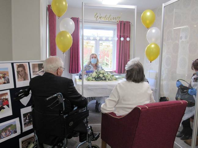 The pair got married in the care home following Peter's declining health (Credit: SWNS)
