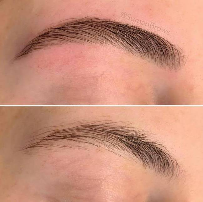 Done right, an at-home tint job can create beautiful, shaped brows that last for weeks (Credit: Brows By Suman)