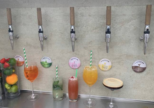 Fancy a cocktail on tap served on your doorstep? (Credit: Liberation Cocktails)