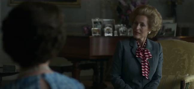 Gillian Anderson stars as Margaret Thatcher (Credit: Netflix)