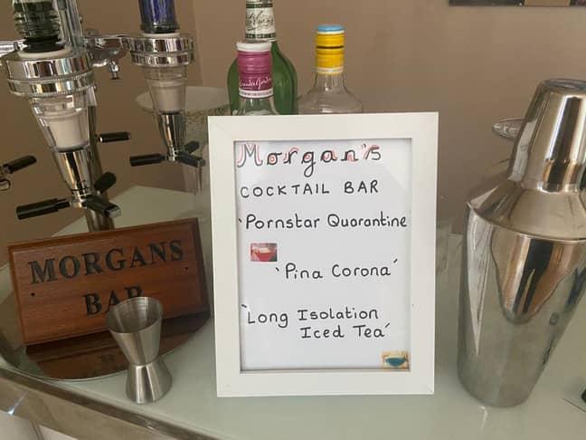 The cocktail bar had coronavirus themed drinks (Credit: SWNS)