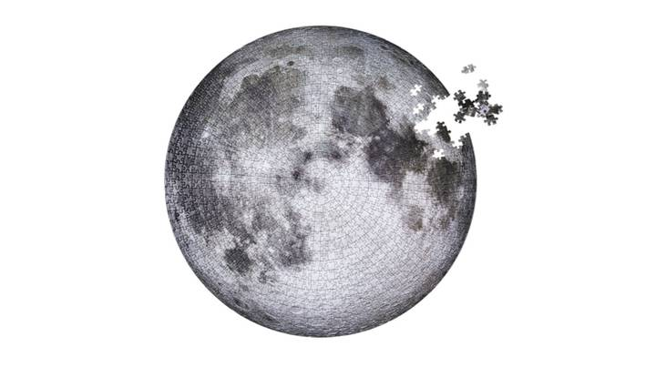 You Can Now Buy A 1,000 Piece Jigsaw Shaped Like The Moon