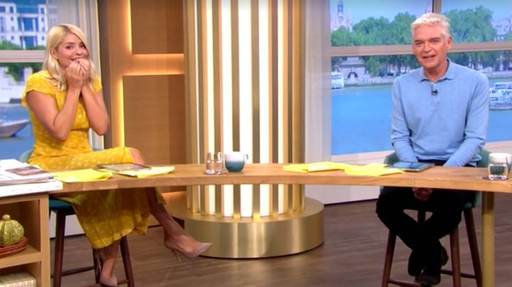 Holly Willoughby Mortified As Gino D'Acampo Pulls His Trousers Down And Flashes Bum