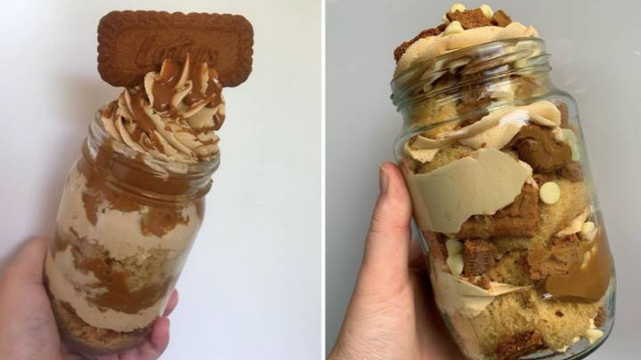 Everyone's Making Mouthwatering Biscoff Cake Jars - And They Look Delicious